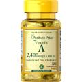 Puritans Pride Vitamin A 8000 IU (2400 mcg) 100 Rapid Release Softgels