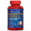 Puritans Pride Triple Strength Omega-3 Fish Oil 1360 mg (950 mg Active Omega-3) 60 Softgels