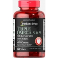 Puritans Pride Triple Omega 3-6-9 Fish and Flax Oils 120 cap