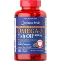 Puritans Pride Triple Strength Omega-3 Fish Oil 1360 mg (950 mg Active Omega-3) 120 Softgels