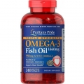 Puritans Pride Triple Strength Omega-3 Fish Oil 1360 mg (950 mg Active Omega-3) 240 Softgels