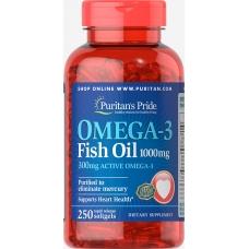 Puritans pride Omega 3 Fish Oli 250caps