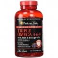 Puritans Pride Maximum Strength Triple Omega 3-6-9 Fish, Flax & Borage Oils 240 cap