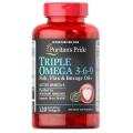 Puritans Pride Triple Omega 3-6-9 Fish Flax and Borage Oils 120 cap